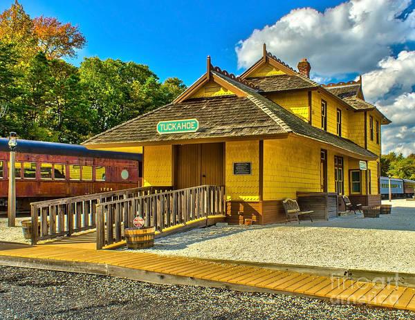 Photograph - Tuckahoe Train Station by Nick Zelinsky