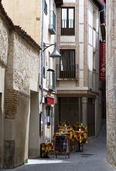 Photograph - Tucked Segovia Cafe by Lorraine Devon Wilke