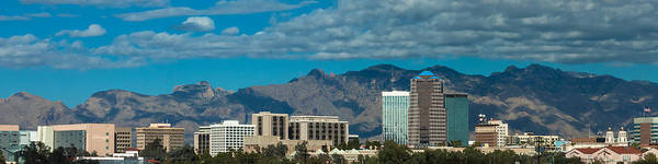 Photograph - Tucson Skyline by Ed Gleichman
