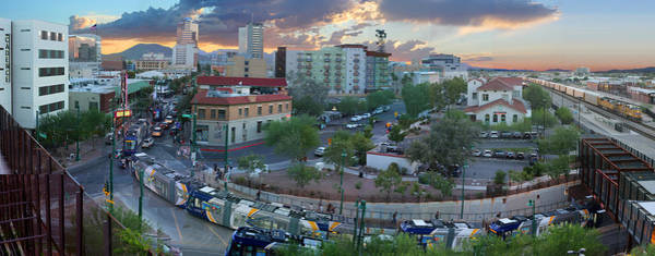 Tucson Photograph - Tucson Streetcar Sunset by Stephen Farley