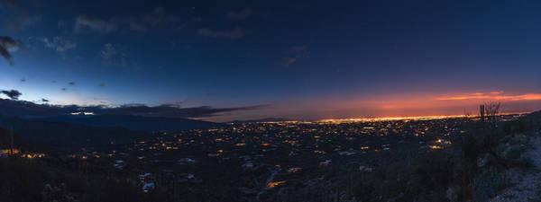 Photograph - Tucson's Twilight Apex by Chris Bordeleau