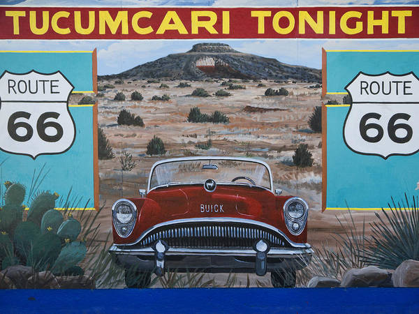 Route Photograph - Tucumcari Tonight Mural On Route 66 by Carol Leigh