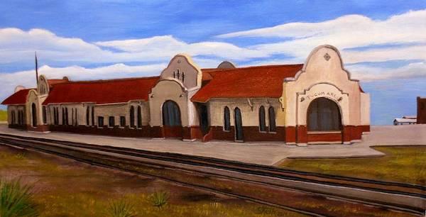 Railroad Station Painting - Tucumcari Train Depot by Sheri Keith