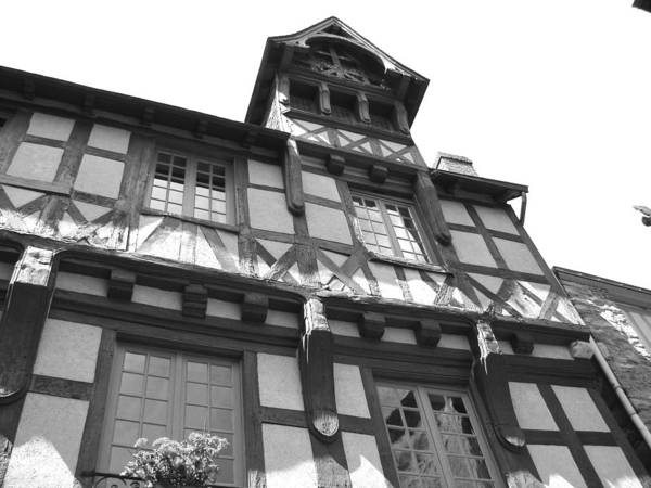 Photograph - Tudor Style House - Le Mans - France by Cristina Stefan