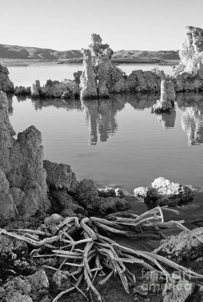 Photograph - Tufa In Black And White by Mae Wertz