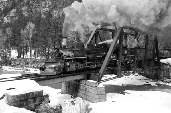 K-28 Photograph - Tuffs Bridge Black And White by Ken Smith
