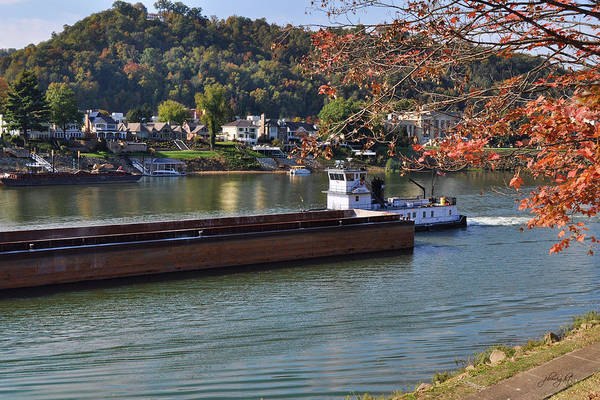 Photograph - Tug On The Kanawha by Paulette B Wright