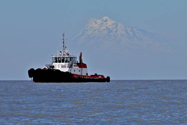 Mount Redoubt Photograph - Northern Tug by Rick  Monyahan