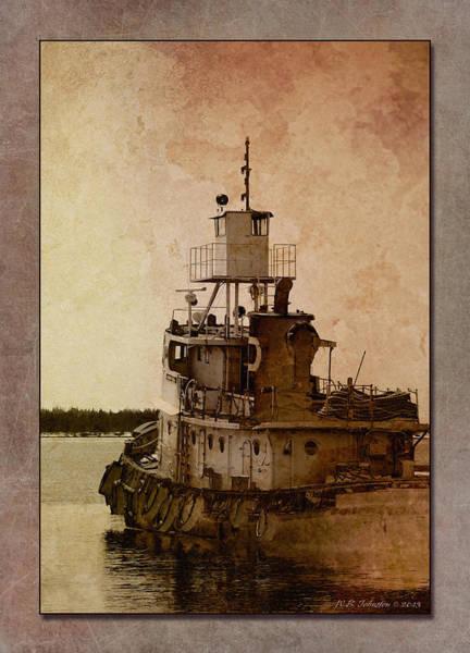 Tug Boat Photograph - Tug by WB Johnston