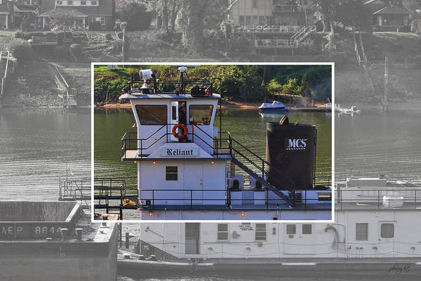 Photograph - Tugboat Captain - Kanawha River by Paulette B Wright