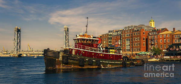 Photograph - Tugboat In Portsmouth Harbor by Sharon Seaward