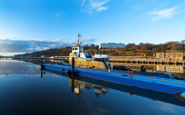 Suir Photograph - Tugboat Moored At The River Suir by Panoramic Images