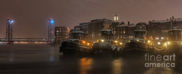 Portsmouth Wall Art - Photograph - Tugs In The Snow by Scott Thorp