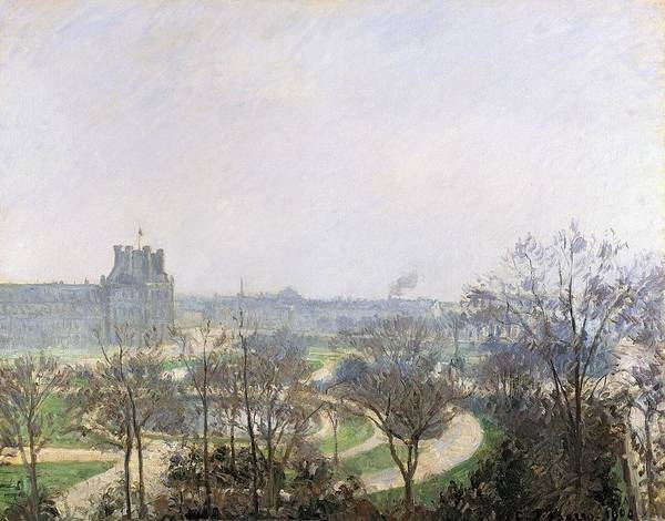 Jardin Wall Art - Painting - Tuileries Gardens, 1900 by Camille Pissarro