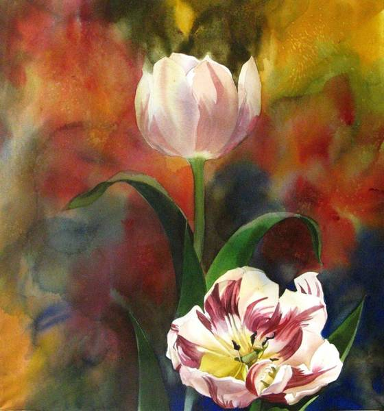 Painting - Tulip Abstraction by Alfred Ng