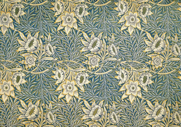 Wallpaper Mixed Media - Tulip And Willow Pattern by Philip Ralley