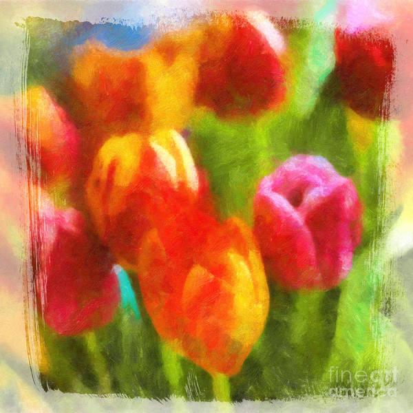 Painting - Tulip Art by Lutz Baar