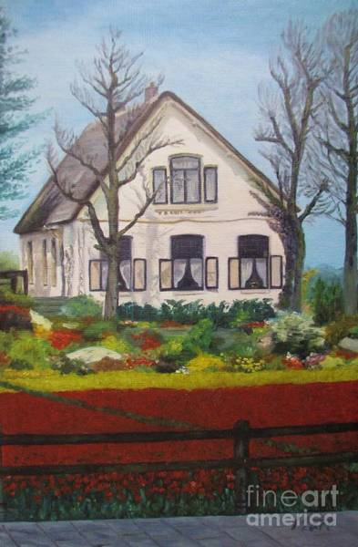 Wall Art - Painting - Tulip Cottage by Martin Howard