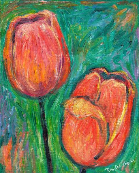 Art Print featuring the painting Tulip Dance by Kendall Kessler