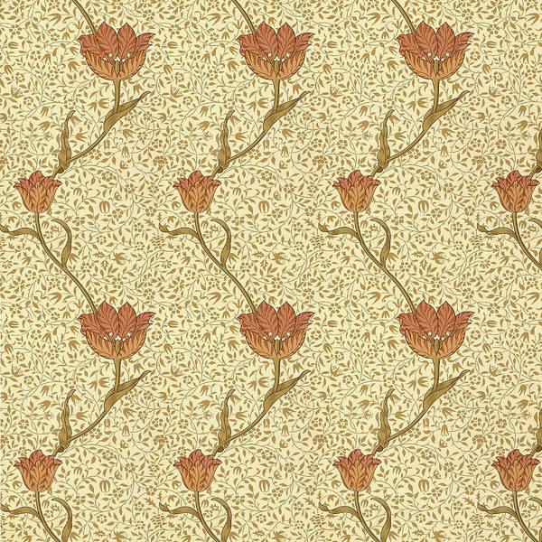 Wallpaper Mixed Media - Tulip Garden By Morris by Philip Ralley