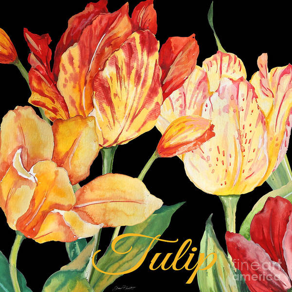 Tulip Bloom Painting - Tulip-jp2604 by Jean Plout