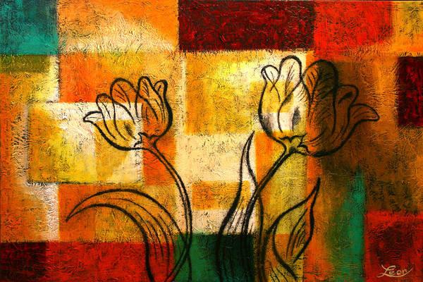 Wall Art - Painting - Tulip by Leon Zernitsky