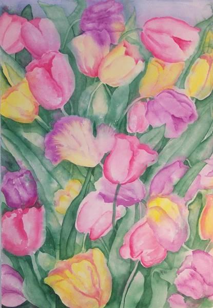 Skagit Valley Painting - Tulip Profusion by Rhonda Leonard