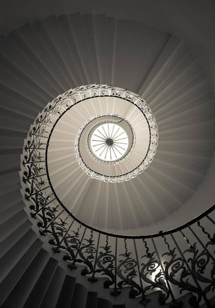 Photograph - Tulip Stairs From Below by Ross Henton