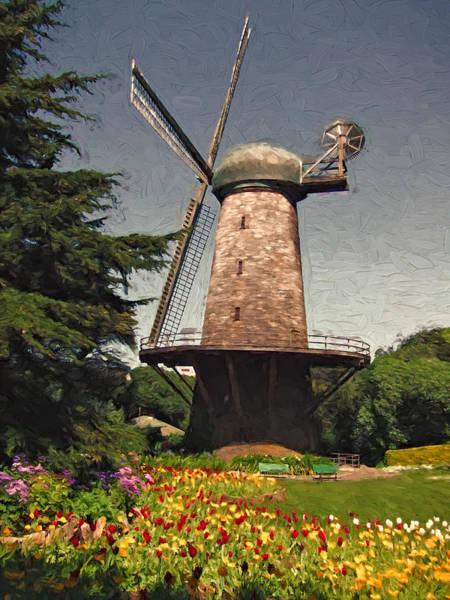 Park Bench Mixed Media - Tulip Time by John K Woodruff