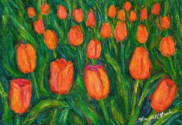 Painting - Tulip Twirl by Kendall Kessler