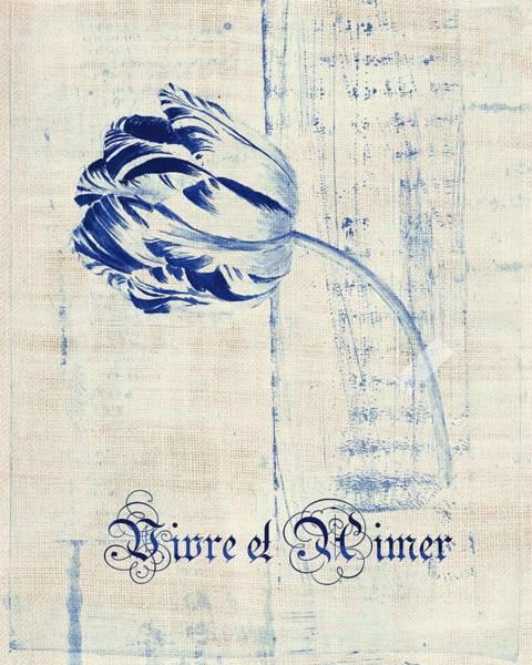Off Digital Art - Tulip - Vivre Et Aimer S04bt04t by Variance Collections