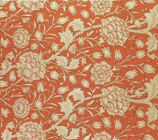 Elaborate Wall Art - Tapestry - Textile - Tulip Wallpaper Design by William Morris