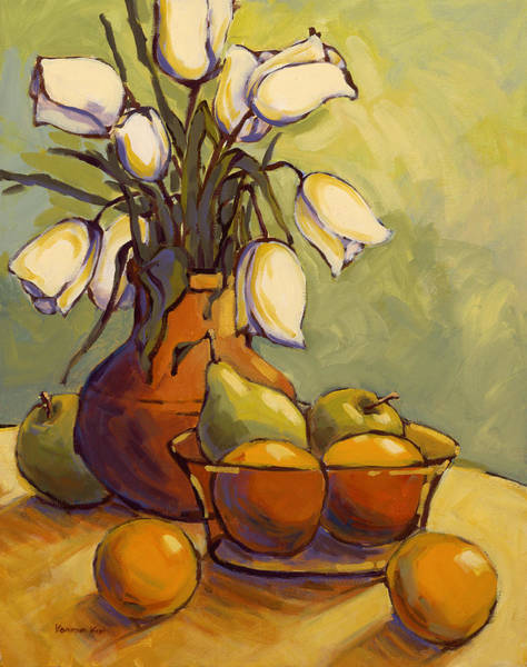 Art Print featuring the painting Tulips 1 by Konnie Kim