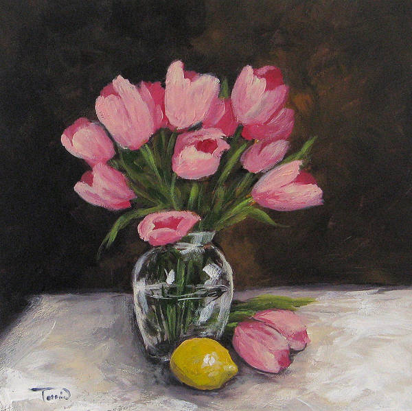 Wall Art - Painting - Tulips And Lemon by Torrie Smiley