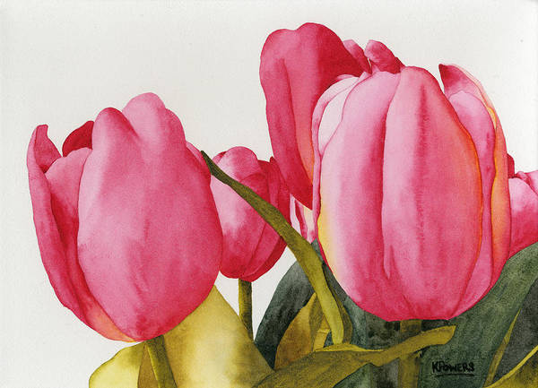 Painting - Tulips For You by Ken Powers