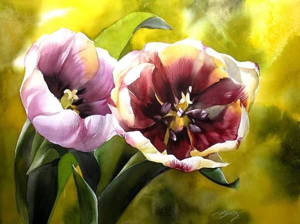 Painting - Tulips In The Sun by Alfred Ng