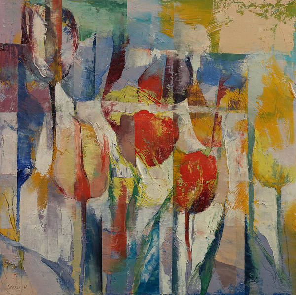 Wall Art - Painting - Tulips by Michael Creese