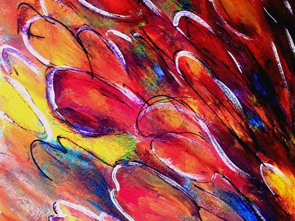 Tulips Swaying Art Print