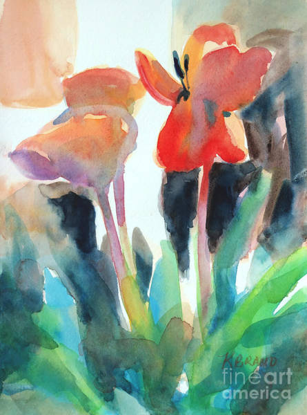 Wall Art - Painting - Tulips Together by Kathy Braud
