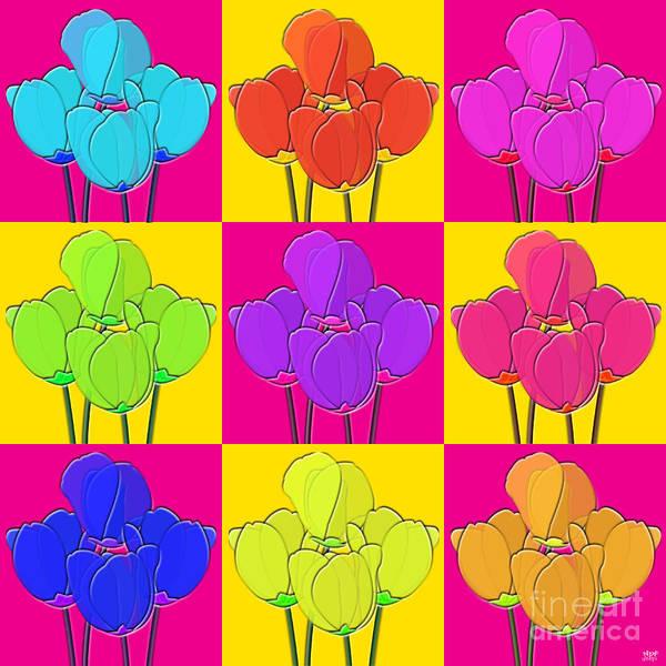Revolting Digital Art - Tulips Two by Neil Finnemore