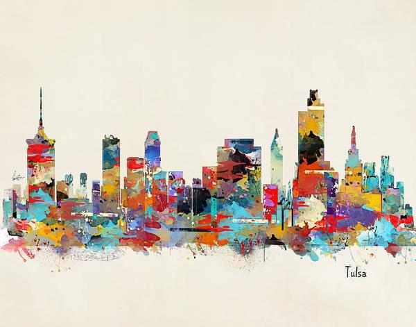 Oklahoma Wall Art - Painting - Tulsa Oklahoma by Bri Buckley