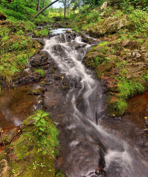 Photograph - Tumbling Waters At Dreward's Glen by Leda Robertson