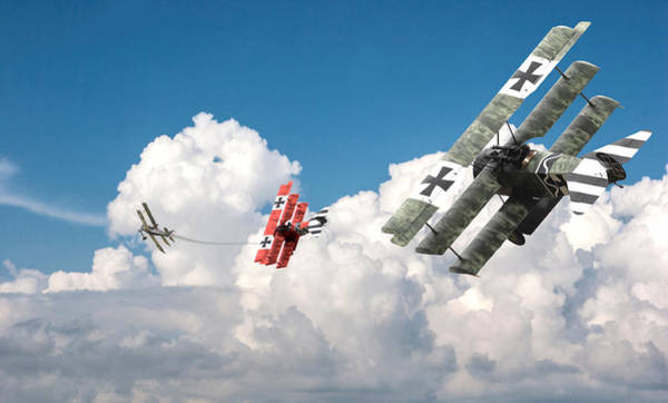 World War 1 Digital Art - Tumult In The Clouds by Pat Speirs