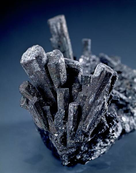 Natural Elements Photograph - Tungsten Crystals by Natural History Museum, London/science Photo Library