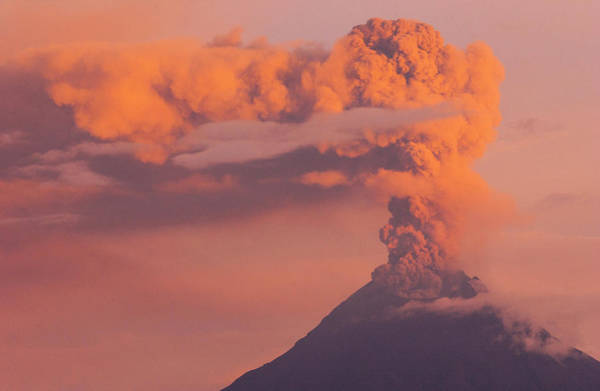 Andes Photograph - Tungurahua Active Volcano (5016m by Pete Oxford