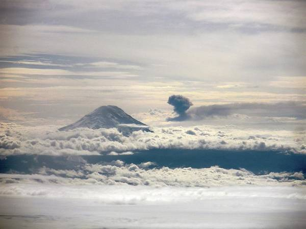 No Smoking Wall Art - Photograph - Tungurahua Volcano Erupting by Nasa