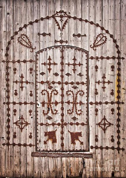 Arabs Photograph - Tunisian Door by Delphimages Photo Creations