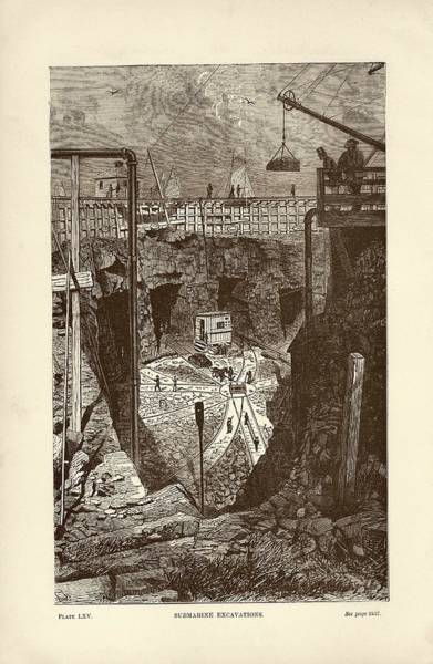 Subterranean Photograph - Tunnel Construction by Art And Picture Collection/new York Public Library