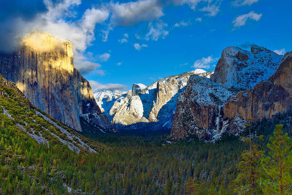 Photograph - Tunnel View by Mark Whitt