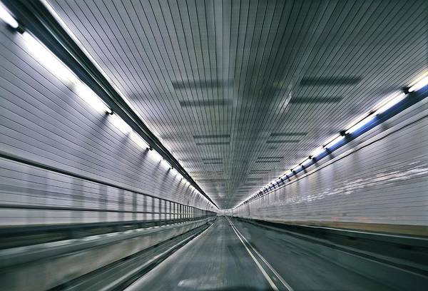 Holland Tunnel Wall Art - Photograph - Tunnel Vision by Tony Ambrosio
